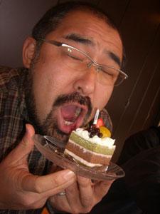 あずきが乗ったケーキを選びました♪