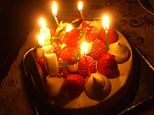 このケーキがまたおいしーの